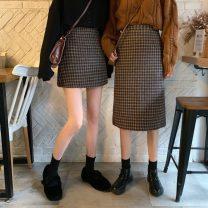 skirt Winter 2020 S,M,L Grey skirt, Khaki Skirt, black skirt, coffee skirt, grey skirt, Khaki Skirt, black skirt, coffee skirt Mid length dress commute High waist A-line skirt lattice Type A 18-24 years old 31% (inclusive) - 50% (inclusive) Korean version