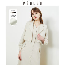 Dress Spring 2021 Black, apricot, brown 36/S/160,38/M/165 Mid length dress Long sleeves tailored collar High waist Solid color Single breasted other 25-29 years old Type H Peoleo / piaoyei pocket DP1112212-539733 91% (inclusive) - 95% (inclusive) other polyester fiber