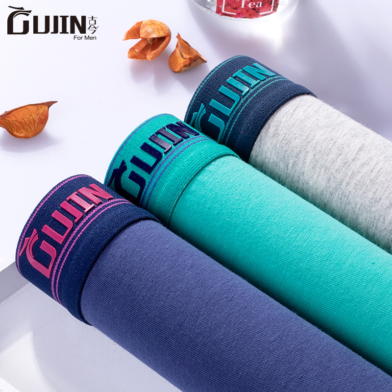 underpants MLXLXXL male GUJIN / ancient and modern men 3 items cotton Middle waist Pants other youth Simple above 95 movement EJFSJ15 Spring 2017 Cotton 95.2% Polyurethane Elastic Fiber (Spandex) 4.8% Cotton 95.2% Polyurethane Elastic Fiber (Spandex) 4.8%