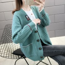 Wool knitwear Spring 2020 S M L XL Long sleeves singleton  Cardigan other More than 95% Regular routine commute easy V-neck routine Color matching Single breasted Korean version 25-29 years old Beautiful appearance Printed stitched threaded button Other 100% Pure e-commerce (online only)
