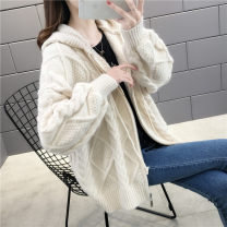Wool knitwear Spring 2020 S M L XL Beibai Pink Long sleeves singleton  Cardigan other More than 95% Regular routine commute easy Hood routine Solid color zipper Korean version YZM S201315 25-29 years old Beautiful appearance Stitched thread button zipper Other 100% Pure e-commerce (online only)