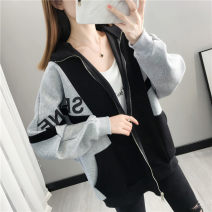 Wool knitwear Autumn 2020 S M L XL Black flower 8850 white Long sleeves singleton  Cardigan other More than 95% Regular routine commute easy V-neck routine Color matching zipper Korean version YZM8087 35-39 years old Beautiful appearance Pocket print stitched threaded zipper Other 100%