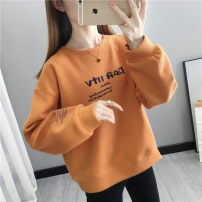 Sweater / sweater Spring 2021 Dark green blue orange white yellow S M L XL Long sleeves routine Socket singleton  routine Crew neck easy commute routine letter 30-34 years old 96% and above Beautiful appearance Korean version other YZM202112812 Printed stitching thread cotton Cotton liner Other 100%