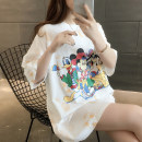 T-shirt White Black Rose S M L XL Spring 2021 Short sleeve Crew neck easy Medium length routine commute other 96% and above 25-29 years old Korean version originality Cartoon letter mosaic Beautiful appearance YZM S20204011 2 Print stitching Other 100% Pure e-commerce (online only)