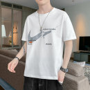 T-shirt Youth fashion ZX t09 white ZX t09 black ZX t09 green thin M L XL 2XL 3XL Guest speech Short sleeve Crew neck easy Other leisure summer ZX T09 Cotton 100% teenagers routine tide Cotton wool Summer 2021 Cartoon animation printing cotton Creative interest No iron treatment More than 95%