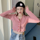 Women's large Spring 2021 Pink L (recommended 100-120 kg), XL (recommended 120-135 kg), 2XL (recommended 135-150 kg), 3XL (recommended 150-165 kg), 4XL (recommended 165-180 kg) to ensure that the real object is consistent with the picture T-shirt singleton  commute Self cultivation moderate Cardigan