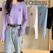 Women's large Winter 2020, autumn 2020 White, purple, blue, black XL (100-120 kg recommended), 2XL (120-140 kg recommended), 3XL (140-160 kg recommended), 4XL (160-180 kg recommended) to ensure that the real object is consistent with the picture Knitwear / cardigan singleton  commute Self cultivation