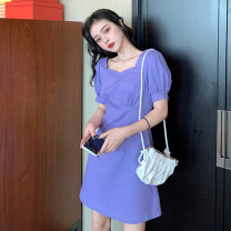 Women's large Summer 2020 violet S (recommended 80-90 kg), m (recommended 90-105 kg), l (recommended 105-120 kg), XL (recommended 120-140 kg), 2XL (recommended 140-160 kg), 3XL (recommended 160-180 kg), 4XL (recommended 180-200 kg) to ensure that the real object is consistent with the picture Dress