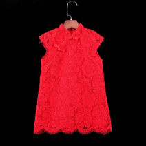 cheongsam 73,80,90,100,110,120,130,140,150,155,160 Red a, red awning Other 100% Childhooddays / Xiong Yinuo No model summer Solid color other Class B Chinese Mainland
