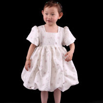 Dress Light apricot square neck bubble sleeve, yellow square neck bubble sleeve female Childhooddays / Xiong Yinuo 80cm, 90cm, 100cm, 110cm, 120cm, 130cm, 140cm, 150cm, 160cm, 165cm, mom s, mom m, mom L Polyester 100% summer Lolita Short sleeve other polyester Lantern skirt Class B Chinese Mainland