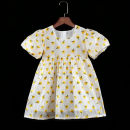 Dress female Childhooddays / Xiong Yinuo Polyester 100% summer princess Broken flowers polyester Pleats Class B 18 months, 2 years old, 3 years old, 4 years old, 5 years old, 6 years old, 7 years old, 8 years old, 9 years old, 10 years old, 11 years old, 12 years old, 13 years old, 14 years old
