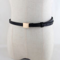 Belt / belt / chain Pu (artificial leather) Black, camel, white female belt Versatile Single loop Youth, youth, middle age Smooth button Glossy surface Glossy surface 1.1cm alloy alone 105cm