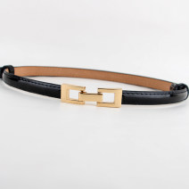 Belt / belt / chain Pu (artificial leather) White, red, gold, black, rose female belt Versatile Single loop Children, teenagers, youth a hook Glossy surface Patent leather 1.3cm alloy alone 90cm
