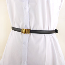 Belt / belt / chain Pu (artificial leather) Black, camel, red, white, coffee female belt Versatile Single loop Youth, youth, middle age a hook other soft surface 1.3cm alloy alone 90cm