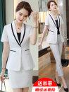 Professional dress suit S M L XL XXL XXXL 4XL Summer 2021 Short sleeve loose coat Suit skirt 25-35 years old Polyester 97.8% polyurethane elastic fiber (spandex) 2.2%