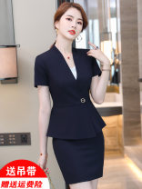 Professional dress suit S M L XL XXL 3XL 4XL Summer 2021 Short sleeve MSD_ YWZ8616 Other styles Suit skirt 18-25 years old MUSADO Polyester 97.8% polyurethane elastic fiber (spandex) 2.2%