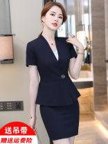 Professional dress suit S M L XL XXL 3XL 4XL Summer 2021 Short sleeve MSD_ YWZ8616 Other styles Suit skirt 18-25 years old MUSADO Polyester 97.8% polyurethane elastic fiber (spandex) 2.2%
