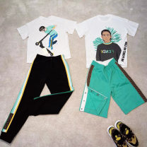 suit Other / other Skateboard t (pre sale) , Black T (pre sale) , Green shorts (pre sale) , Pants (pre sale) 90cm,100cm,110cm,120cm,130cm,140cm,150cm,160cm male 3 years old Chinese Mainland