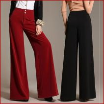 Casual pants Zaohong thick, dark green thick, black thick, camel thick, Zaohong thin, camel thin, light gray thin, bright red thin, white thin, red (not big red) thin, dark green thin, red (not big red) thick, black thin, grass green thin, deep coffee thick, bright red thick Autumn of 2019 trousers