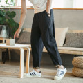 Casual pants Others Youth fashion Black, off white, Navy, T-shirt 751 M,L,XL,2XL,XXXL,XXXXL,XXXXXL routine Ninth pants Other leisure easy No bullet summer youth Chinese style 2019 middle-waisted Little feet Haren pants Embroidery No iron treatment Ethnic style Non brand
