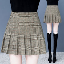 skirt Winter 2020 26 27 28 29 30 31 Check pattern Short skirt commute High waist Pleated skirt Type A 25-29 years old MSN1050 71% (inclusive) - 80% (inclusive) Universal language polyester fiber Korean version 201g / m ^ 2 (including) - 250G / m ^ 2 (including)