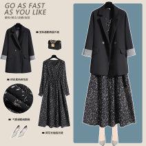 Fashion suit Summer 2020 S M L XL XXL XXXL Black suit black suit black dress 25-35 years old Lungge px5981 81% (inclusive) - 90% (inclusive) Polyester 68% viscose 30% polyurethane elastic 2%