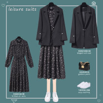 Fashion suit Spring 2021 S M L XL 2XL 3XL 4XL Black suit black dress suit + Dress 25-35 years old Lungge two thousand and twenty-one - two hundred and twenty-six - eight Polyester 100% Pure e-commerce (online only)