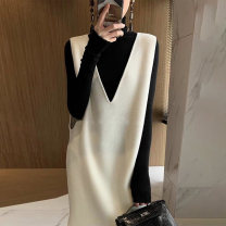 Vest Winter 2020 Cream rice white XS S M L Medium length V-neck commute Solid color No buckle BXMB3033B other Snow Charm 81% (inclusive) - 90% (inclusive) wool pocket Wool 90% other 10% Pure e-commerce (online only)