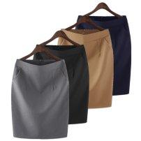 skirt Summer 2020 2XL XL S L 4XL M 3XL Black navy blue dark grey light grey green Short skirt commute High waist Suit skirt Solid color Type H 589537034025_ 5QEVG More than 95% other Baryas other Pocket zipper Korean version Other 100%