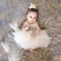 Dress female Other / other Cotton 90% other 10% summer princess Skirt / vest Solid color cotton Cake skirt 3 months, 12 months, 6 months, 9 months, 18 months, 2 years old, 3 years old, 4 years old, 5 years old, 6 years old