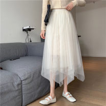 skirt Autumn 2020 Average size Black apricot Mid length dress Versatile High waist Irregular Type A More than 95% other other Lace Other 100% Pure e-commerce (online only)