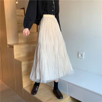 skirt Winter 2020 Average size Black + mesh apricot + mesh Mid length dress commute High waist 18-24 years old YGL602NW More than 95% Yanggangli other Korean version Other 100% Pure e-commerce (online only)