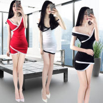 Dress Spring of 2019 Black red white S M L XL Short skirt singleton  18-24 years old Yanfei RKKW1635 More than 95% other Other 100% Pure e-commerce (online only)