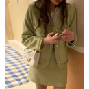 Fashion suit Spring 2021 One size jacket, skirt s, Skirt M Mint reservation, cream reservation 18-25 years old Other / other cotton