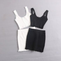 Fashion suit Summer 2021 S, M White, black