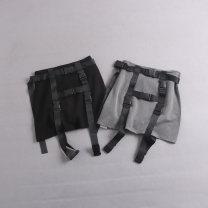 skirt Summer 2021 S,M,L Gray, black Short skirt Versatile