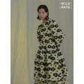 Dress Autumn 2020 Flower type S, M longuette singleton  Long sleeves Sweet Crew neck High waist Decor Cake skirt Others Type A MildRate 012020A brocade polyester fiber
