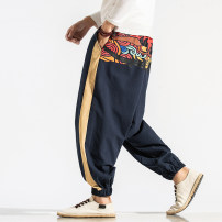 Casual pants Others Youth fashion Tibetan [K10], black [K10], red [K10], Tibetan [K12], black [K12], red [K12] M,L,XL,2XL,3XL,4XL,5XL routine trousers Other leisure easy No bullet K10 Four seasons Large size Chinese style 2019 middle-waisted Little feet Haren pants printing washing Ethnic style