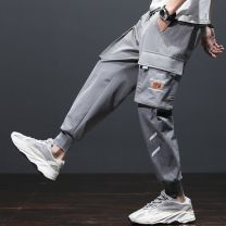Casual pants Others Youth fashion Zgx × 6603 gray, zgx × 6603 green, zgx × 6603 black, 819 M,L,XL,2XL,3XL,4XL routine trousers motion easy Micro bomb ZGX#6603-0207C2 spring teenagers tide 2021 middle-waisted Little feet Polyamide fiber (nylon) 90.8% polyurethane elastic fiber (spandex) 9.2% Overalls