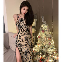 Dress Summer 2021 Picture color S,M,L,XL longuette singleton  Sleeveless commute Crew neck High waist Decor Socket Pleated skirt routine camisole 18-24 years old Type A Korean version Frenulum 31% (inclusive) - 50% (inclusive) other other