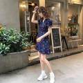 Women's large Summer 2020 Navy Blue Dress Sweet 18-24 years old