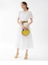 Dress Spring 2021 White, chestnut brown Average size