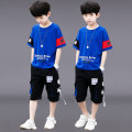 suit Taiyiku White red blue yellow 120cm 130cm 140cm 150cm 160cm 170cm male summer leisure time Short sleeve + pants 2 pieces Thin money There are models in the real shooting Socket nothing Solid color cotton children Expression of love TYKX115 Class B Other 100% Summer 2021 Chinese Mainland