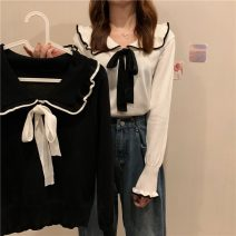 Wool knitwear Spring 2021 Average size White, black Long sleeves singleton  Socket other 30% and below Regular routine commute Korean version 18-24 years old Other / other