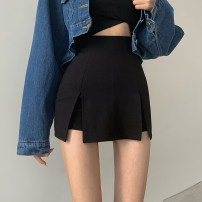 Casual pants black S,M,L Summer 2021 shorts Straight pants High waist Versatile routine 18-24 years old 51% (inclusive) - 70% (inclusive) Other / other nylon Collage cotton