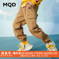 trousers MQD male 110cm,120cm,130cm,140cm,150cm,160cm,170cm spring and autumn trousers leisure time There are models in the real shooting Casual pants Leather belt middle-waisted cotton Cotton 98% polyurethane elastic fiber (spandex) 2% Class B