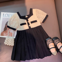 Dress Elegant apricot female Xiaomu 1 (for 80cm), 2 (for 90cm), 3 (for 100cm), 4 (for 110cm), 5 (for 120cm), 6 (for 130cm) Other 100% summer Korean version Short sleeve other other A-line skirt 12 months, 18 months, 2 years old, 3 years old, 4 years old, 5 years old Chinese Mainland