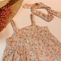 Dress Fragmenting pollen with pastoral wind (send the same hairband) female Xiaomu Size 1 (for 80cm), size 2 (for 90cm), size 3 (for 100cm), size 4 (for 110cm), size 5 (for 120cm), size 6 (for 130cm) Cotton 90% other 10% summer Korean version Skirt / vest Broken flowers other A-line skirt