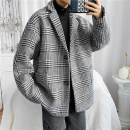 woolen coat Black and white Khaki M L XL 2XL Sodun Youth fashion 12345- Polyester 100% Autumn 2020 routine Other leisure standard Pure e-commerce (online only) teenagers tailored collar Single breasted tide houndstooth  Straight hem Three dimensional bag wool Make old pocket