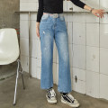 Jeans Spring 2020 blue S,M,L,XL trousers High waist Wide legged trousers routine 18-24 years old Cotton elastic denim light colour EW20C4025C Yi · Li 96% and above